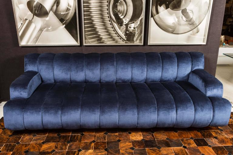 Late 20th Century Channel Quilted Sofa and Chair by Steve Chase