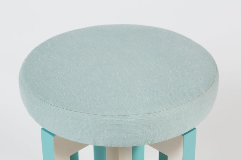 Upholstery Portola Stool by Dragonette Private Label For Sale