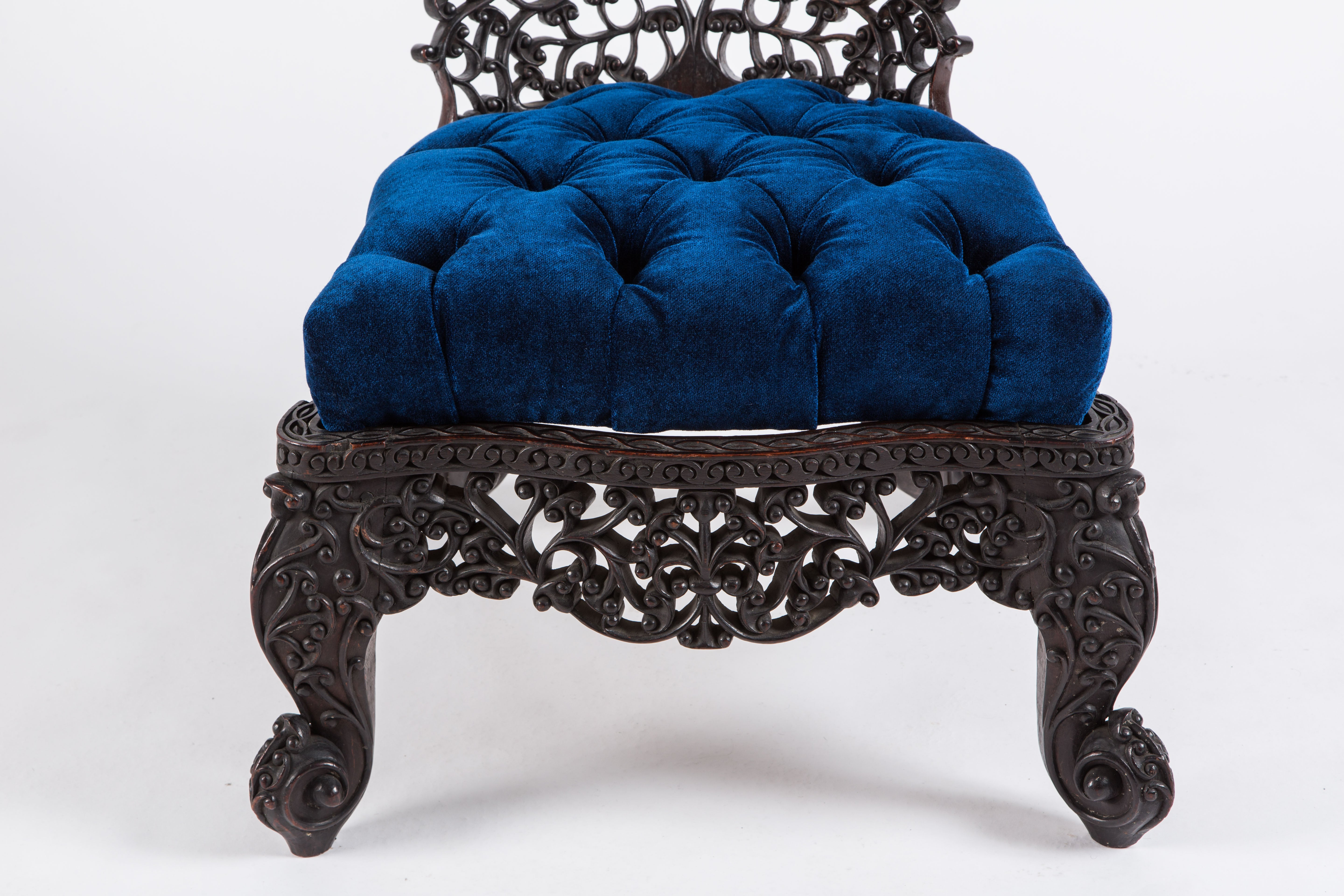 Remarkable Intricately Carved Anglo Indian Low Chair At 1Stdibs Gmtry Best Dining Table And Chair Ideas Images Gmtryco