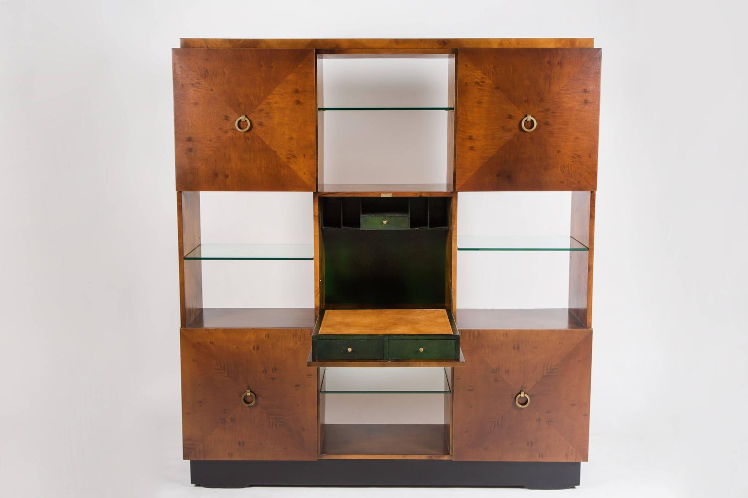 Geometric Cabinet Bookcase with Drop Down Desk by Johan Tapp for Gumps ...
