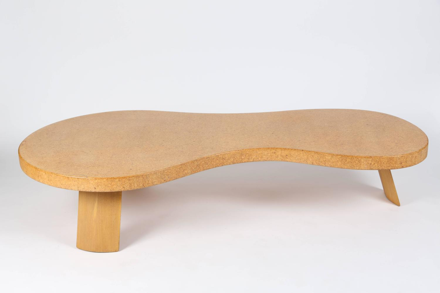 Rare bigfoot cork cocktail table by paul frankl for for Table th visible