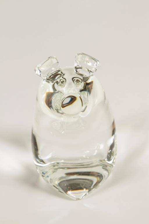 These adorable crystal pigs will bring a smile to your face! The two were designed and added to the Steuben menagerie in 1979.  Momma pig measures 5.5 H x 5.5 W x 3.75.  Baby pig measures 4.5 H x 4.5 W x 2.5