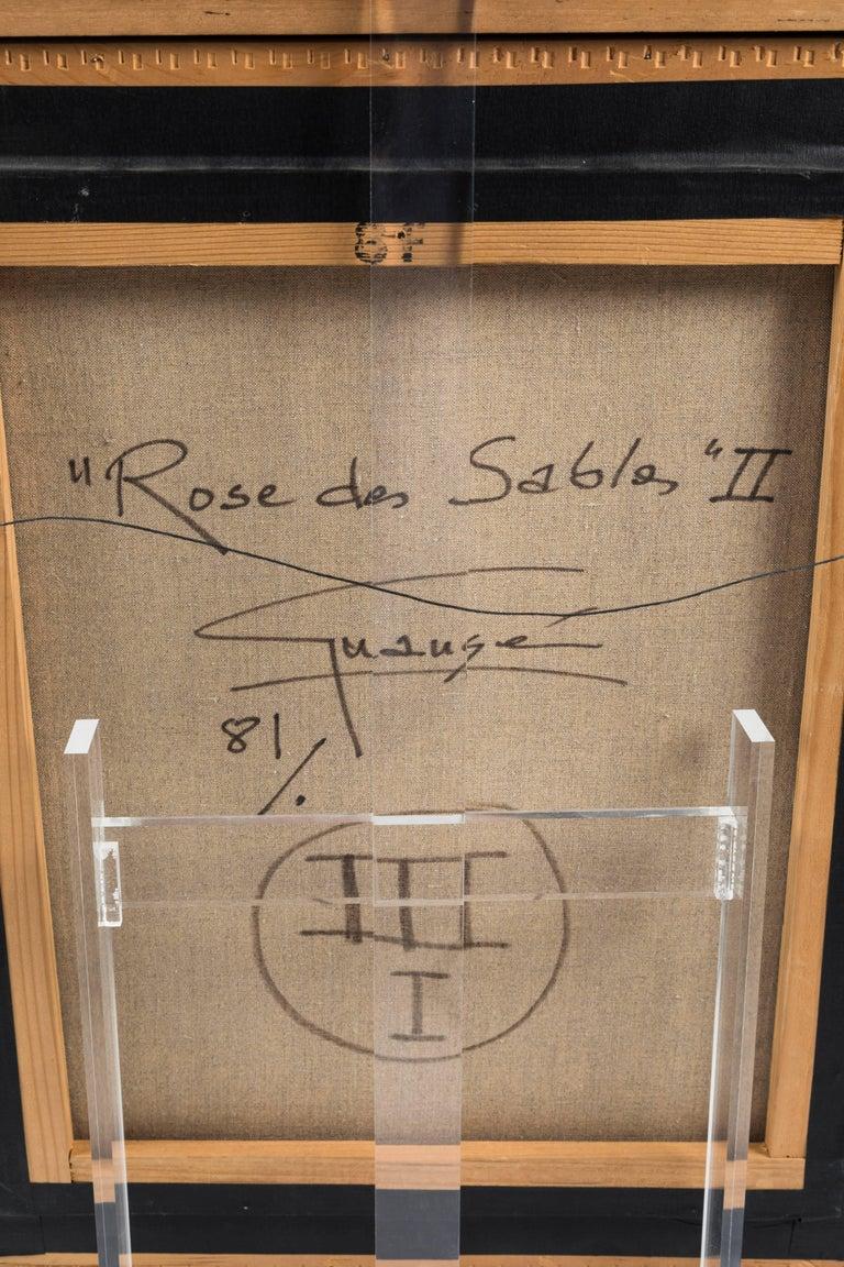 20th Century Rose de Sables, II Oil Painting by Antonio Guansé For Sale