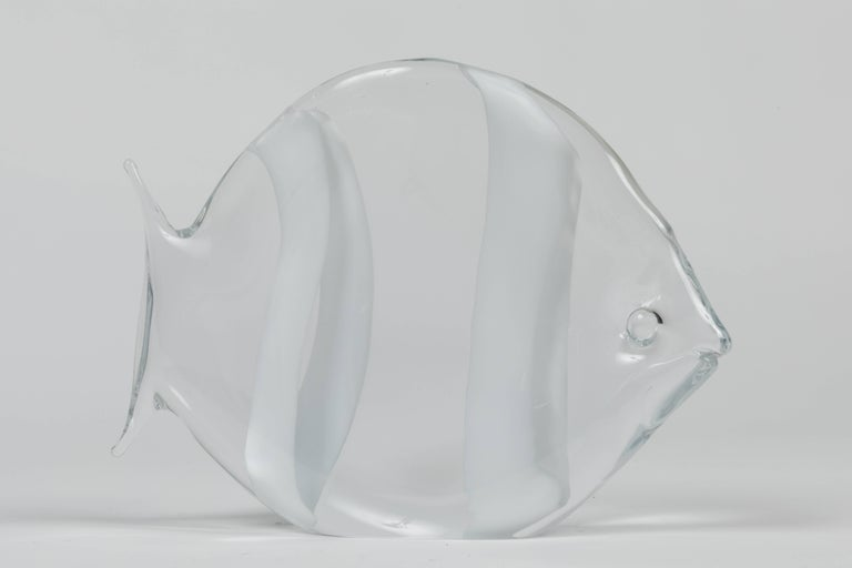 Mid-Century Modern Murano Glass Fish Sculpture by Archimede Seguso For Sale