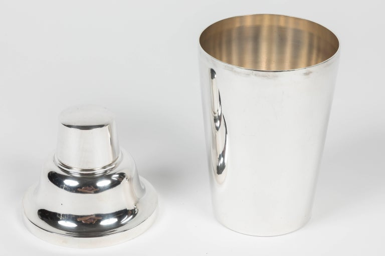 American Silver Plated Metal Cocktail Shaker by R. Wallace & Sons For Sale