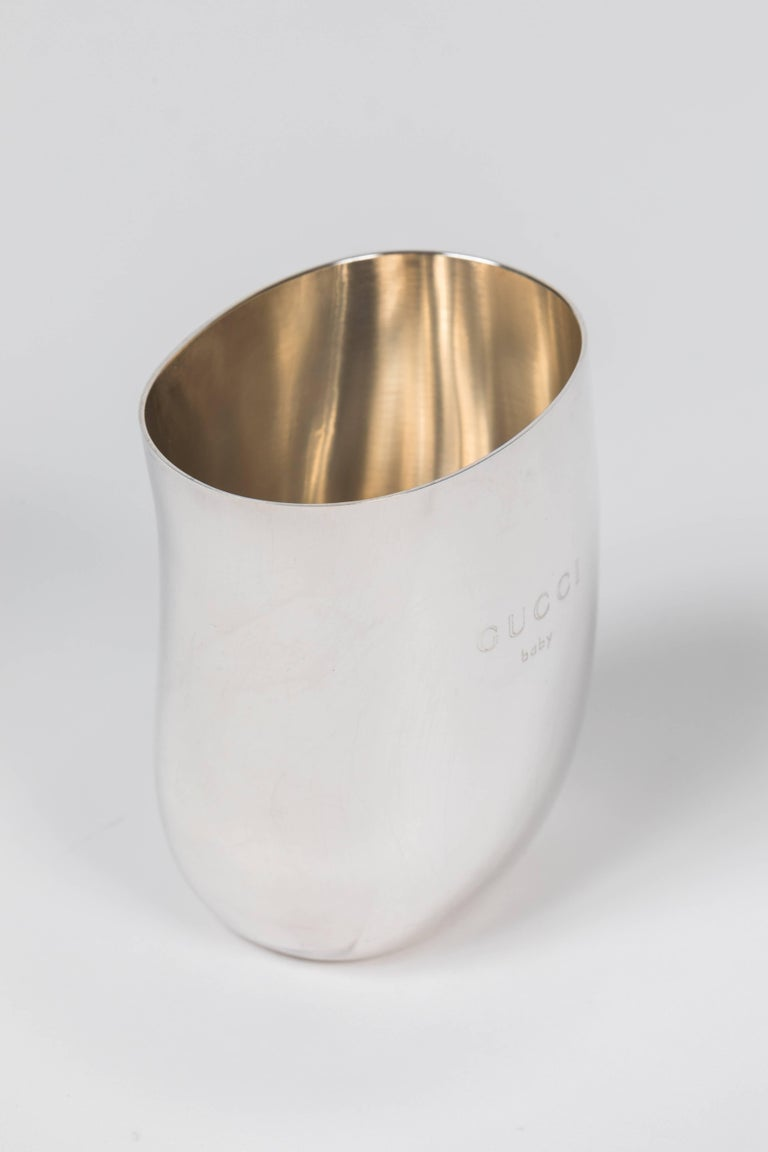 From the Tom Ford era at Gucci, this sterling silver cup is engraved