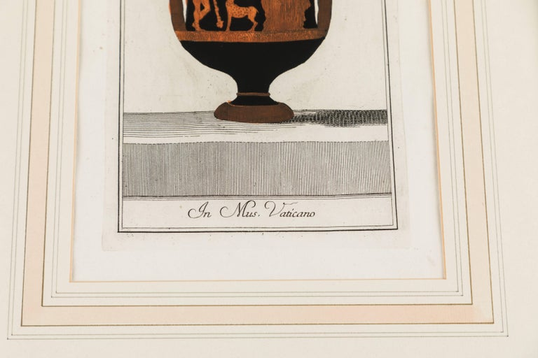 Set of Three Framed Prints Depicting Greek Apulian Red-Figure Pottery For Sale 1