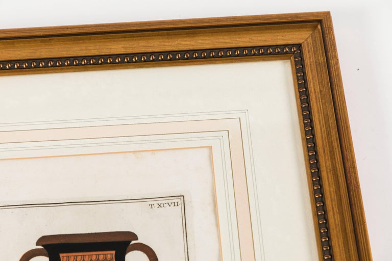 Set of Three Framed Prints Depicting Greek Apulian Red-Figure Pottery In Good Condition For Sale In Palm Desert, CA