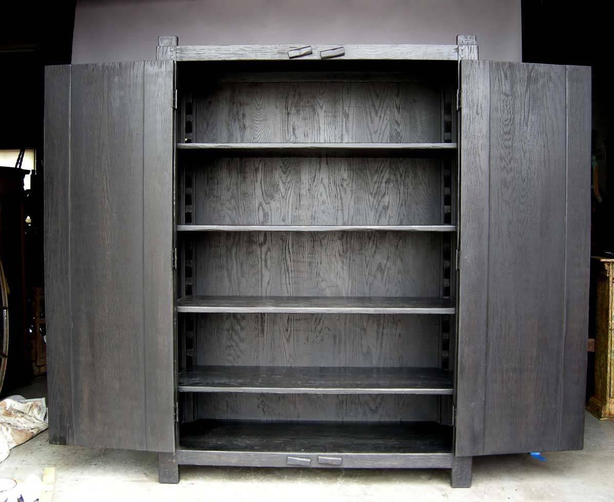 Custom Large Primitive Modern Armoire/Cabinet/Wardrobe in ...