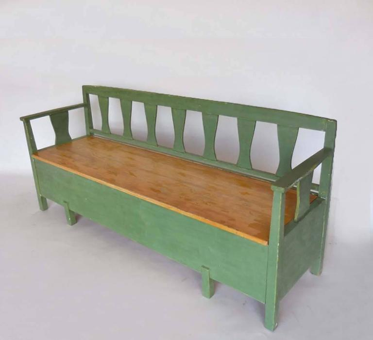 19th Century Swedish Painted Bench/Daybed 2