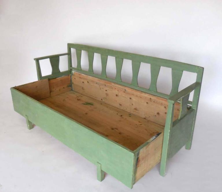 19th Century Swedish Painted Bench/Daybed 4