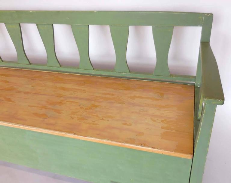 19th Century Swedish Painted Bench/Daybed 7