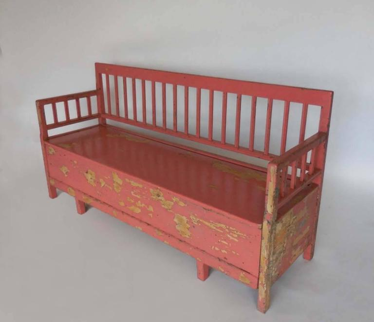 19th Century Painted Swedish Bench Daybed For Sale At 1stdibs