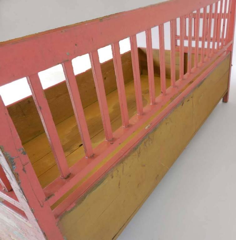 19th Century Painted Swedish Bench/Daybed 5