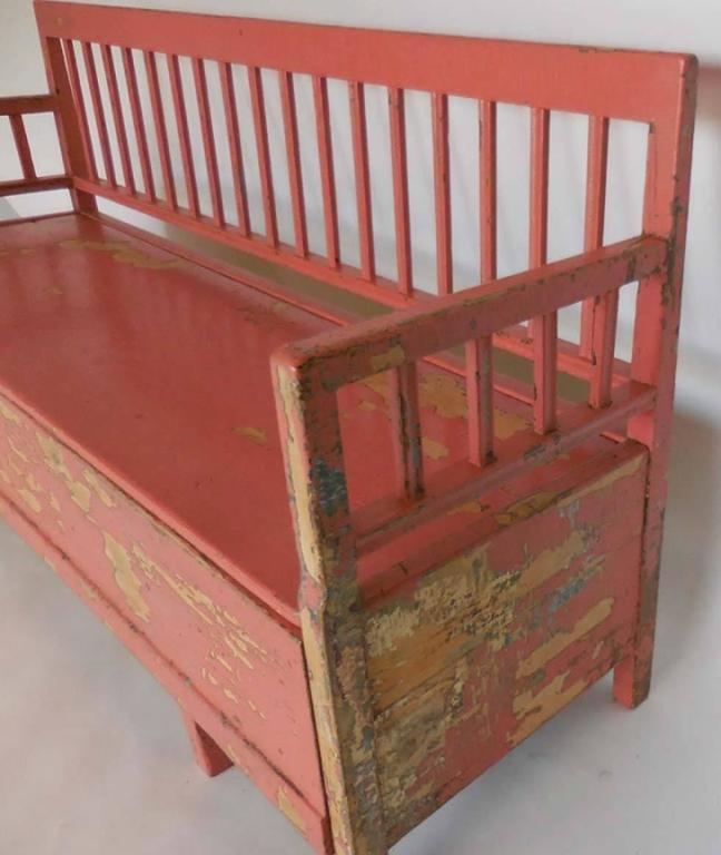19th Century Painted Swedish Bench/Daybed 6