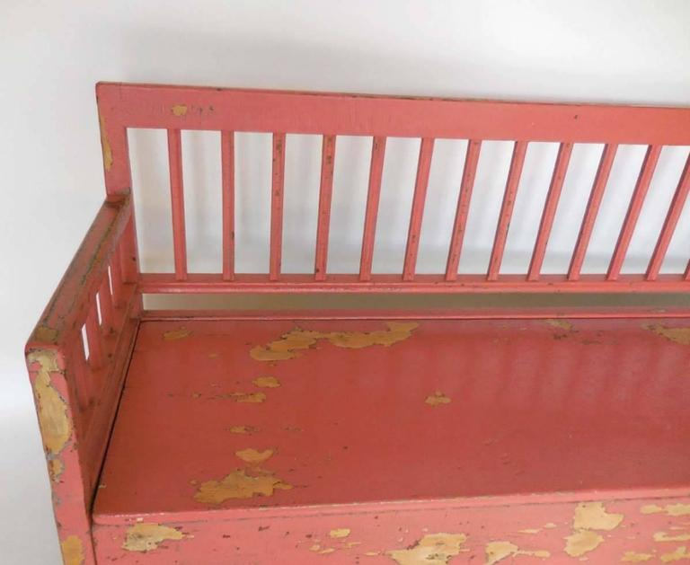 19th Century Painted Swedish Bench/Daybed 7