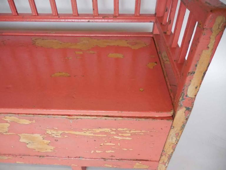 19th Century Painted Swedish Bench/Daybed 8