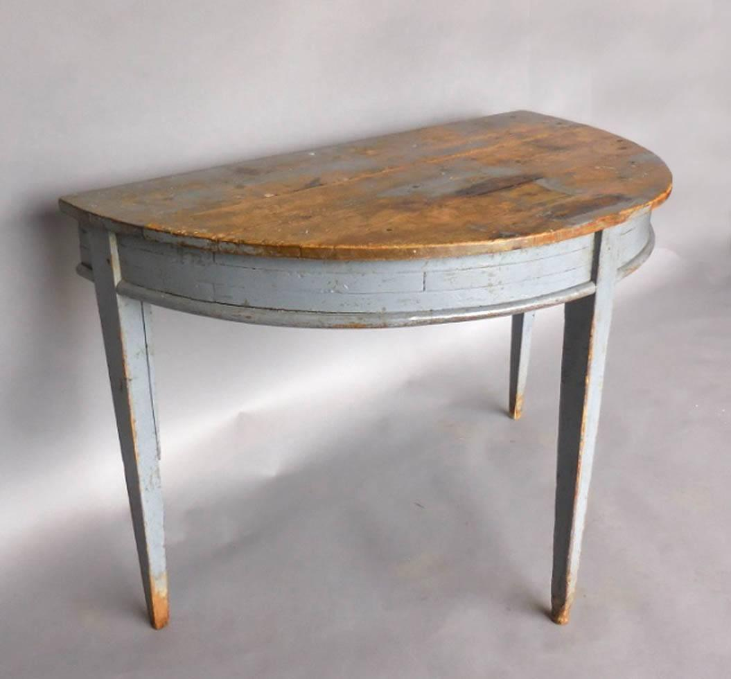 gustavian demilune table at 1stdibs. Black Bedroom Furniture Sets. Home Design Ideas