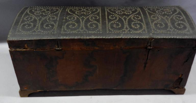 Spanish Leather Trunk For Sale 2