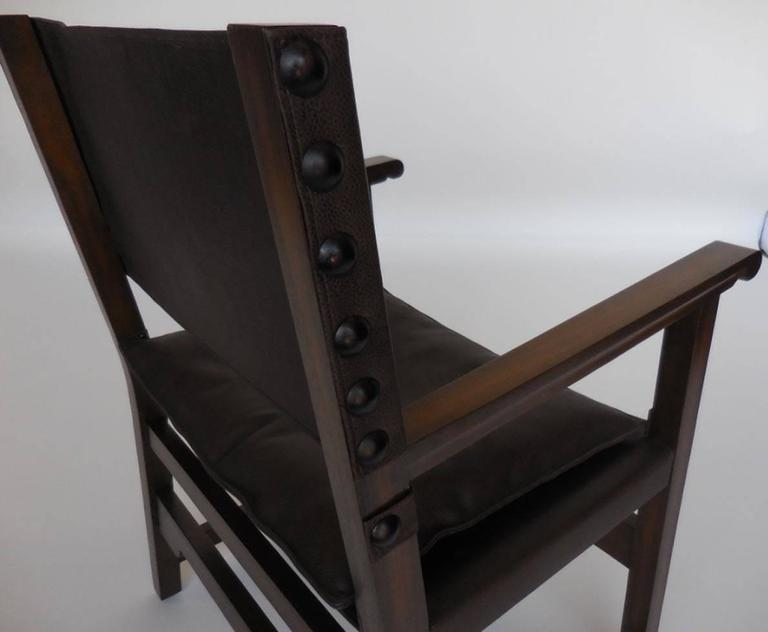 Dos Gallos Custom Leather Sing Chair For Sale 1