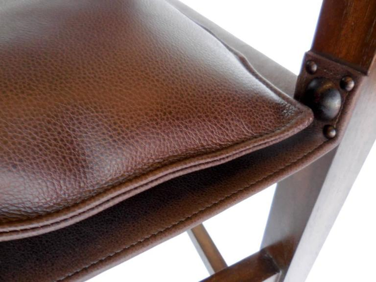Dos Gallos Custom Leather Sing Chair For Sale 3