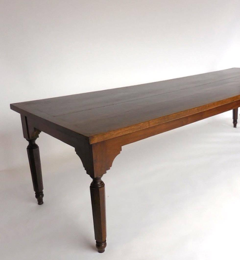 Wood Dining Table For Sale: Very Large Antique Spanish Walnut Wood Dining Table For