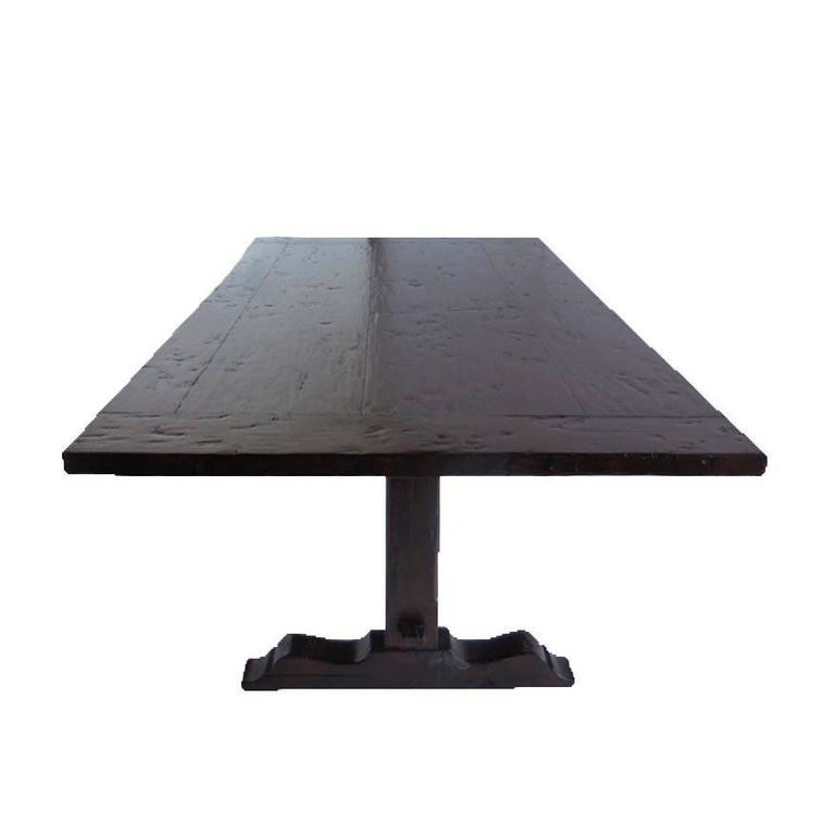 American Classical Dos Gallos Custom Trestle Table For Sale