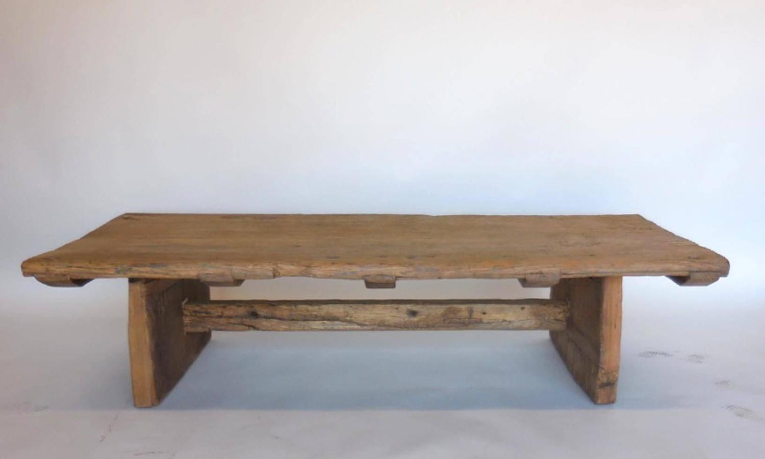 Japanese Elmwood Coffee Table For Sale At 1stdibs