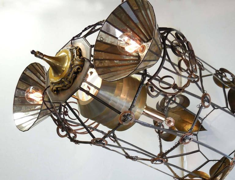 Steampunk Rocket Chandelier For Sale At 1stdibs