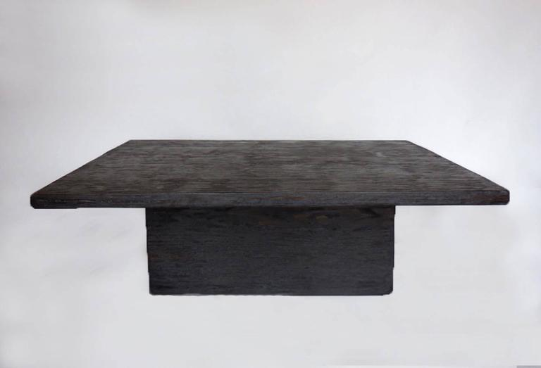 Dos Gallos Custom Reclaimed Wood Cube Coffee Table In Espresso - Reclaimed wood coffee table los angeles
