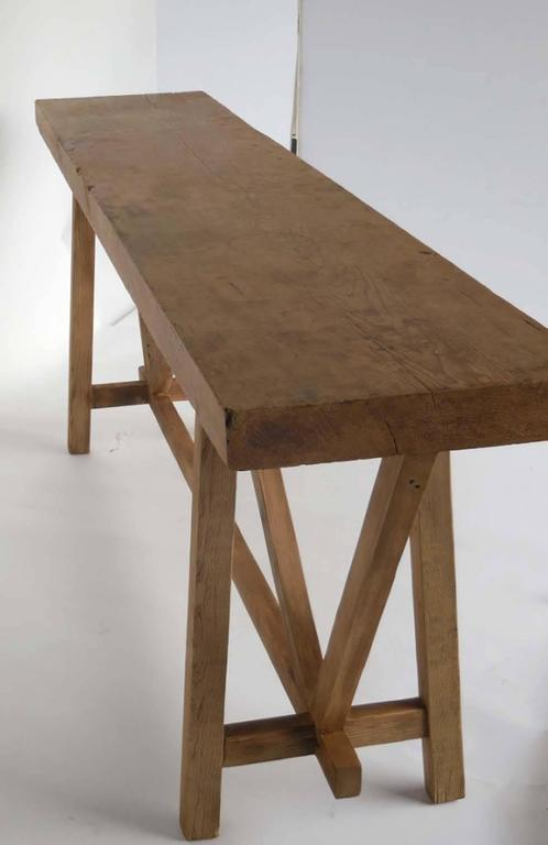Japanese Wood Buttress Console At 1stdibs