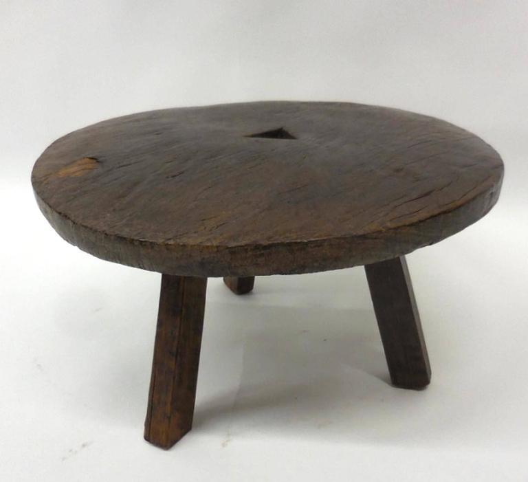 19th Century Wooden Stool Low Table At 1stdibs