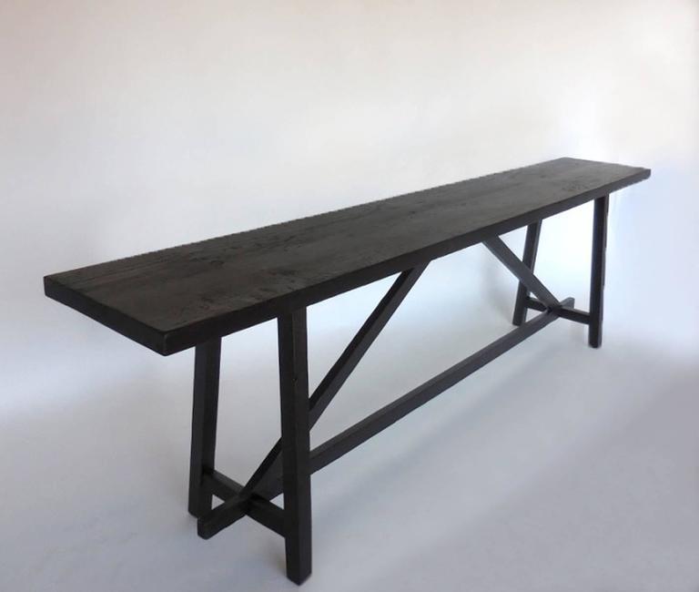 Custom Reclaimed Wood Sofa Back Table or Console 2