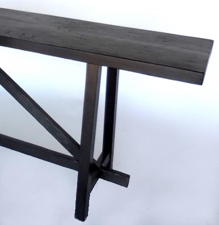 Custom Reclaimed Wood Sofa Back Table or Console 3