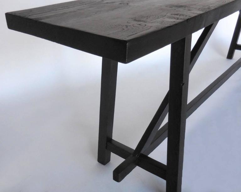 Custom Reclaimed Wood Sofa Back Table or Console 5