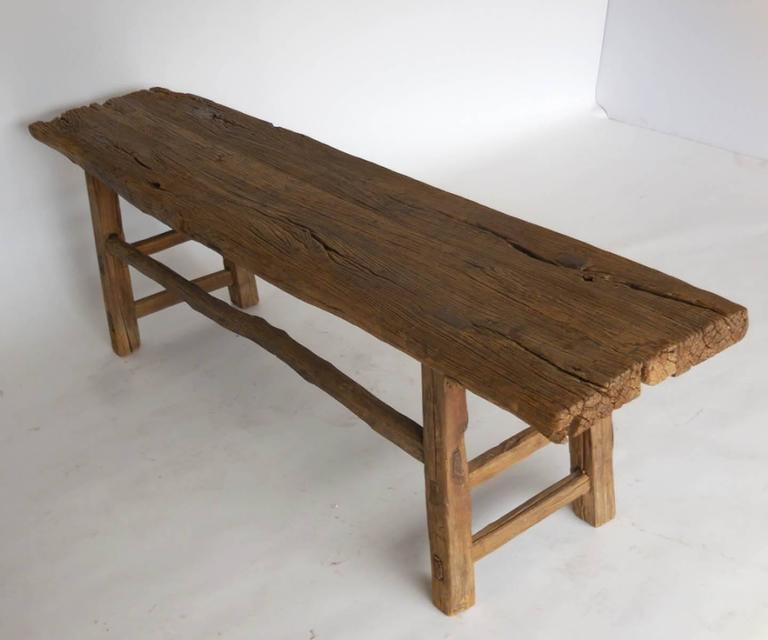 Incroyable Beautiful Elm Bench With Natural Branch Stretchers. Mortise And Tenon  Construction, Beautiful Old Wood