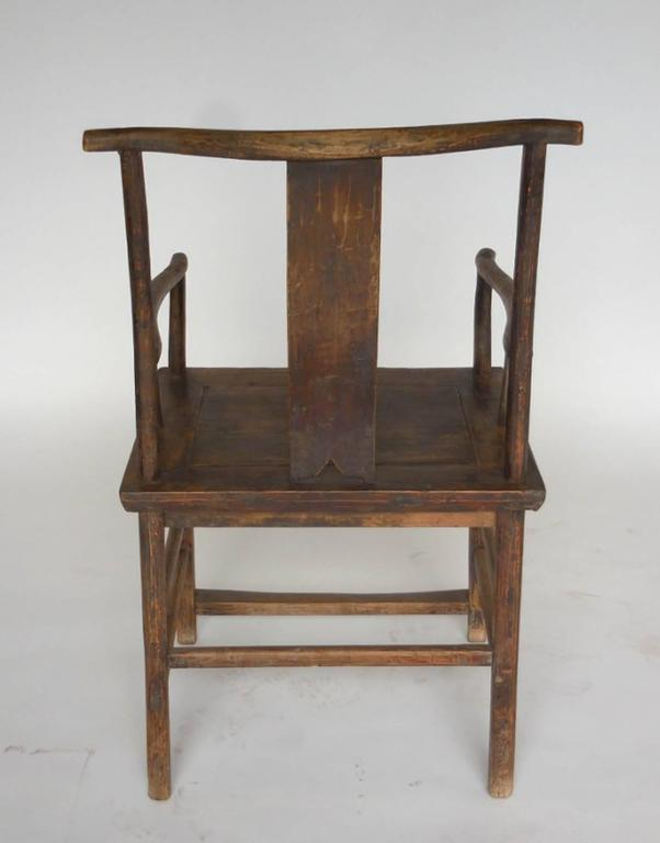 Elm 18th Century Qing Dynasty Chinese Woman and Man's Chairs For Sale