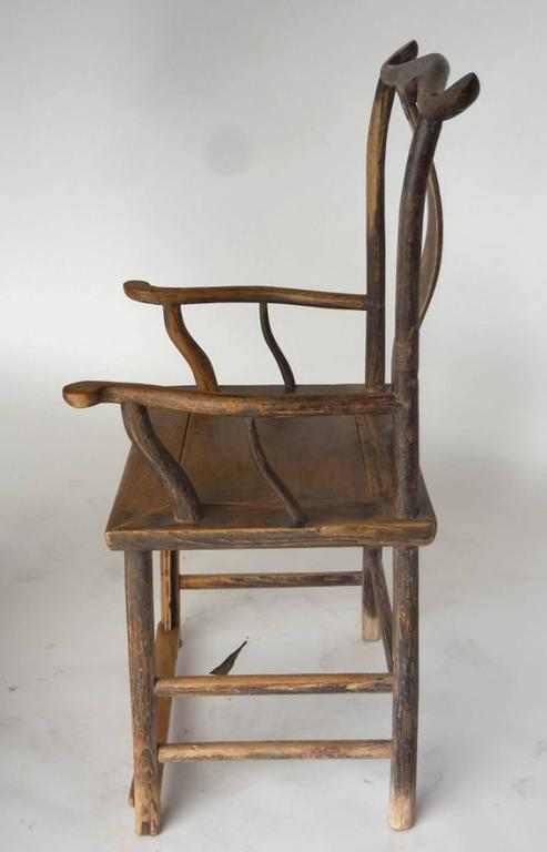 18th Century Qing Dynasty Chinese Woman and Man's Chairs For Sale 3