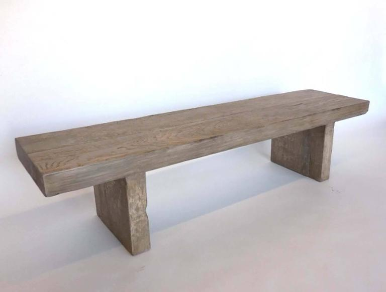 Dos Gallos Custom Grey Plank Bench or Cocktail Table 2