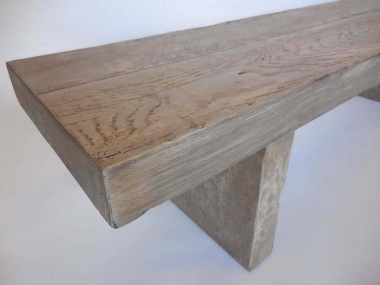 Dos gallos custom grey plank bench or cocktail table for for Cocktail table with 4 benches