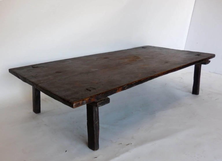 19th century primitive modern coffee table at 1stdibs for Coffee tables 36 wide