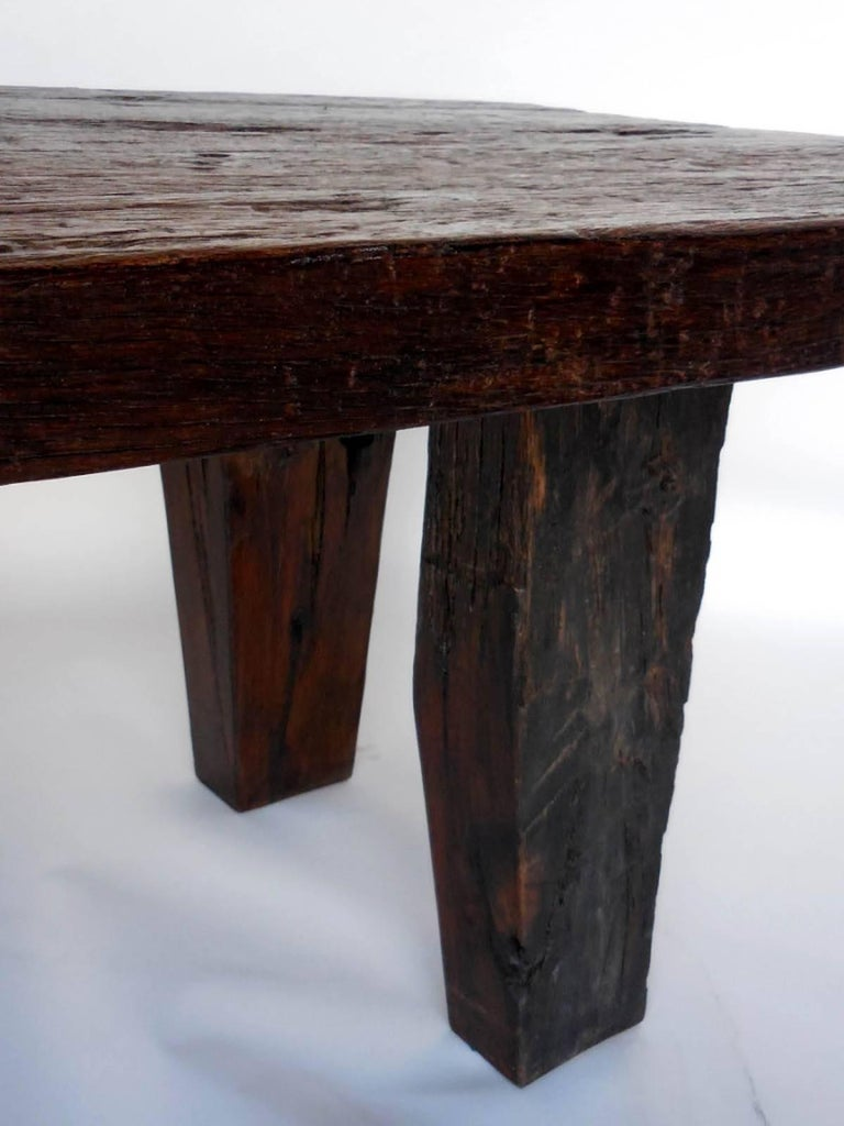 Rustic Modern Dining Table With Thick Top For Sale At 1stdibs
