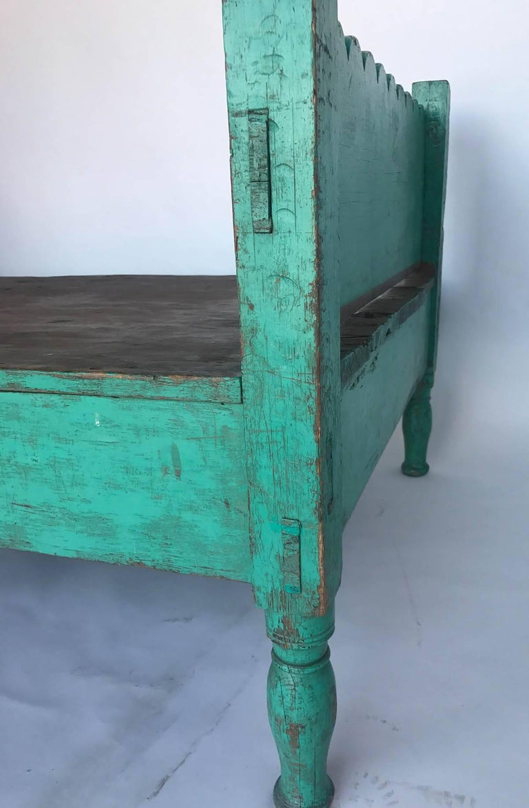 20th Century Folk Art Painted Guatemalan Bed or Daybed For Sale