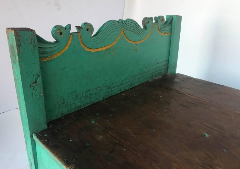 Folk Art Painted Guatemalan Bed or Daybed For Sale 1