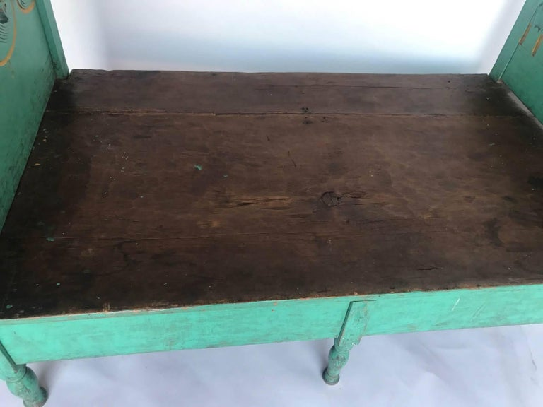 Folk Art Painted Guatemalan Bed or Daybed For Sale 2