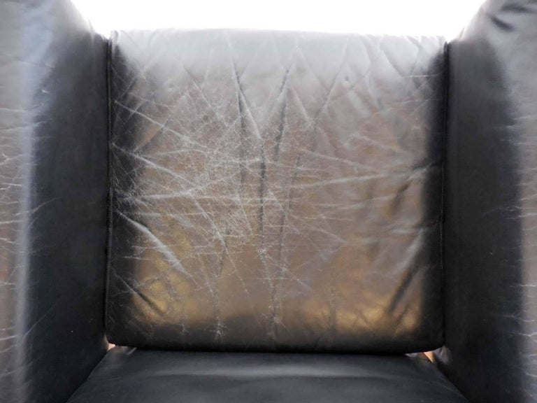 Giuseppe Raimondi Leather Sofa and Chair For Sale 2