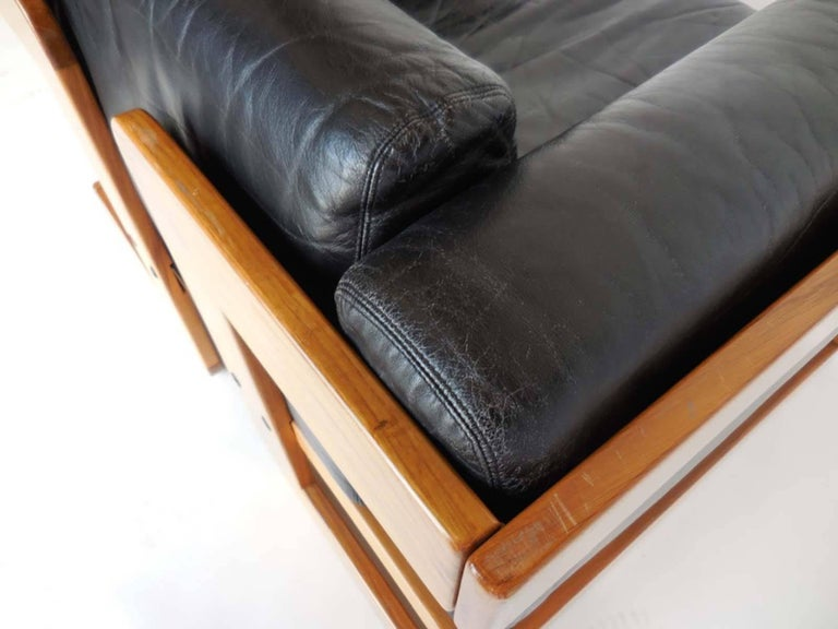 Giuseppe Raimondi Leather Sofa and Chair For Sale 4