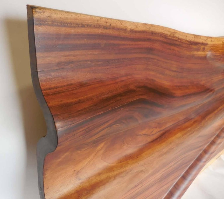 Wood Modern Live Edge Undulating Wall Sculpture or Headboard For Sale