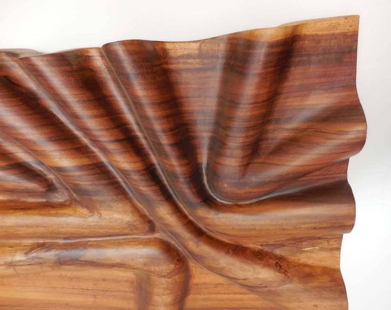 Guatemalan Modern Live Edge Undulating Wall Sculpture or Headboard For Sale