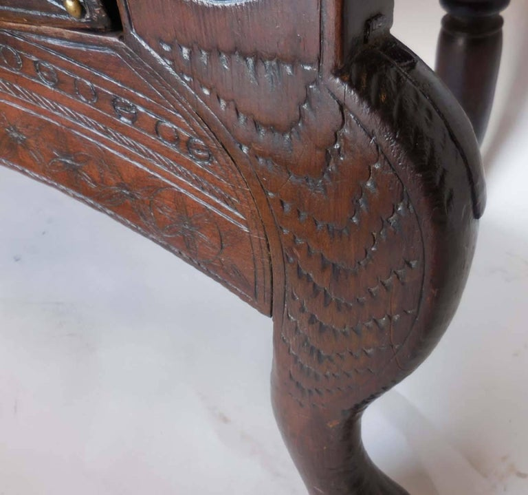 Spanish Colonial Carved Table In Good Condition For Sale In Los Angeles, CA